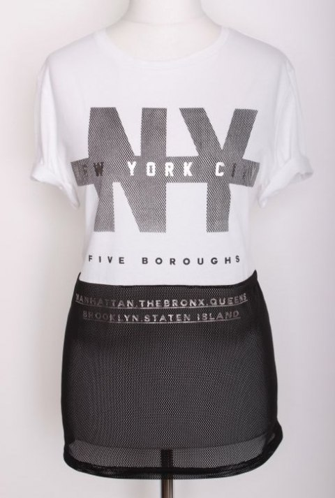 RIVER ISLAND T-SHIRT NEW YORK r 40/42/44 uk 14